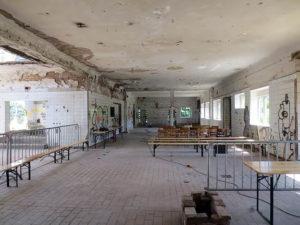 Platz für 150 bis 250 Personen, je nach Bestuhlung und Veranstaltung: die Haupthalle des Milchhofs. (Foto Grunwald)