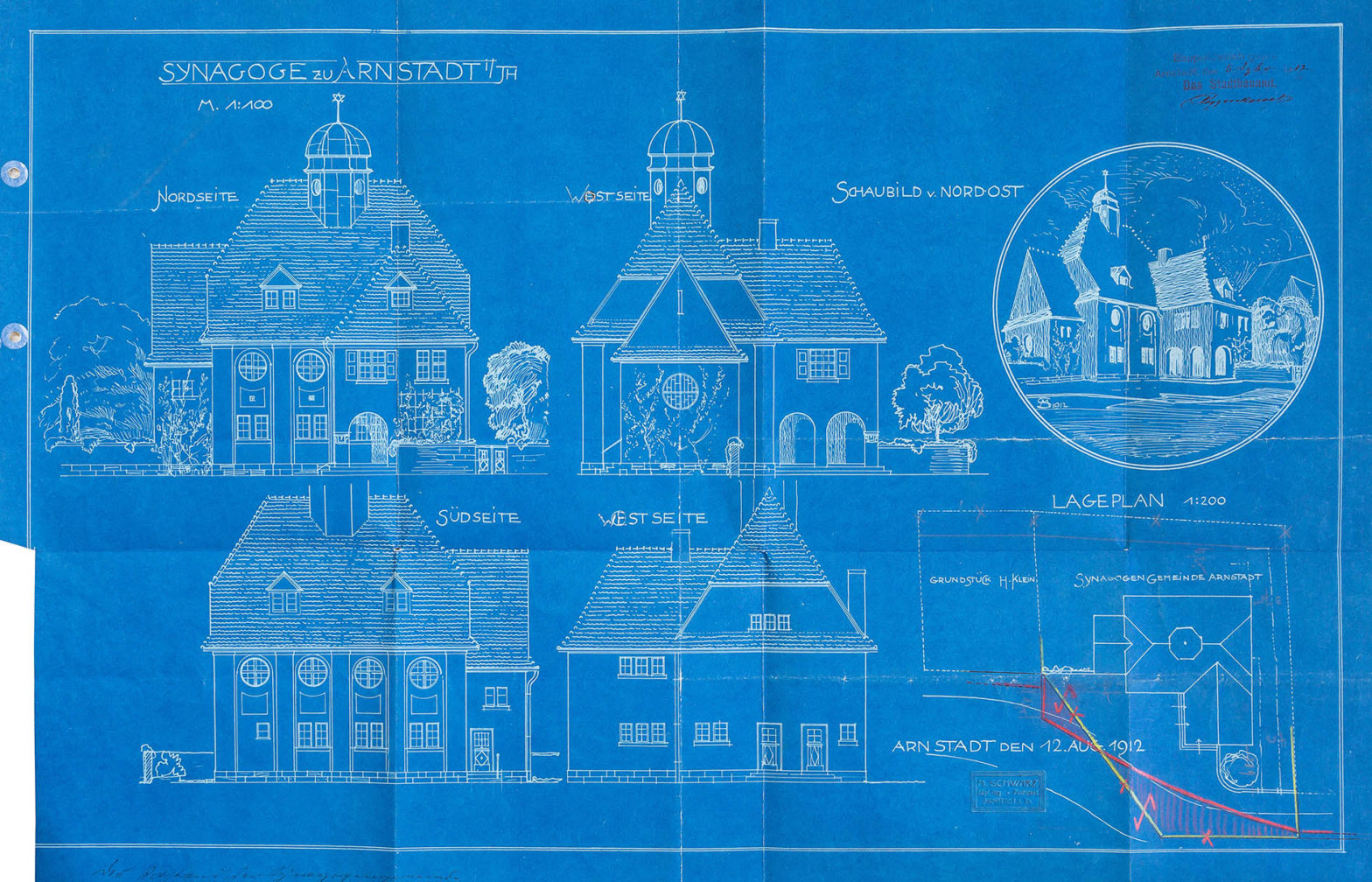 Die Bauten des Martin Schwarz // <small>Die Synagoge zu Arnstadt (1913 bis 1938)</small>